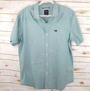 RVCA green button down shirt